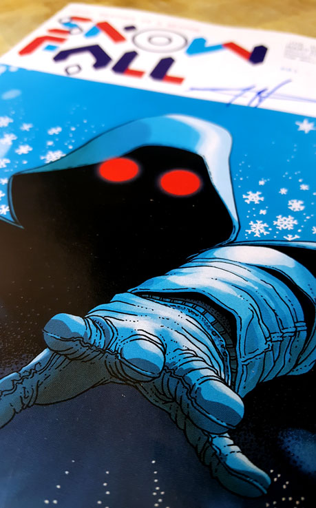 Snowfall's protagonist the white wizard on the cover of a issue #1