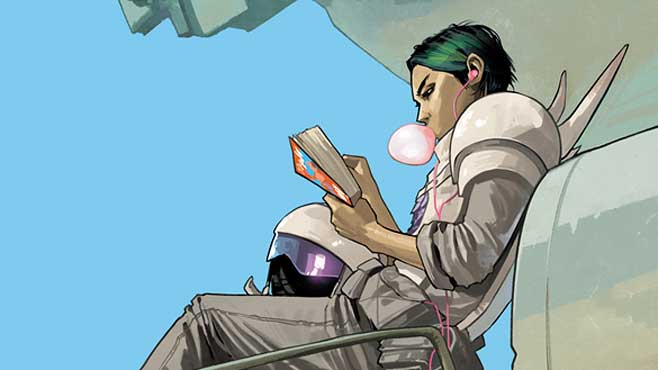 alana from saga sitting reading