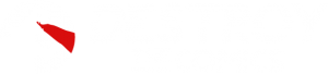 inverted version of destroy the comics logo for dark backgrounds