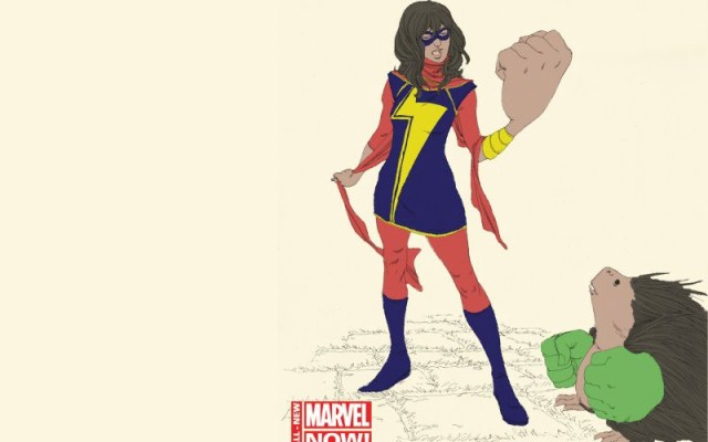 kamala khan in ms marvel with fist held up