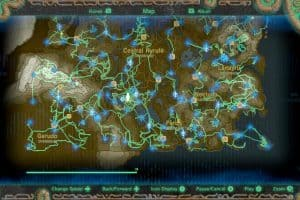 botw zelda link map hero's path world map