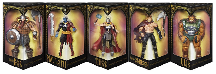 sdcc 2017 thor figure set of 5 characters