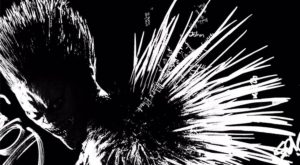 ryuk in black and white