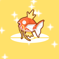a shiny magikarp on the win screen