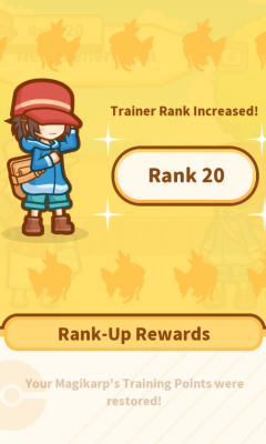 trainer rank up screen