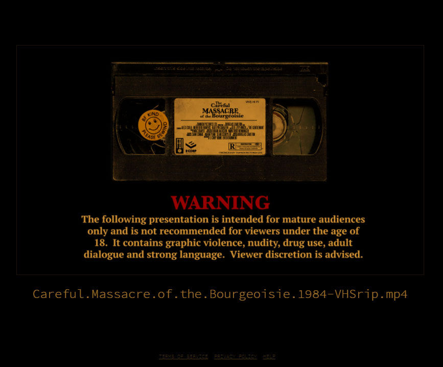 intro screen to the massacre of the bourgeois video
