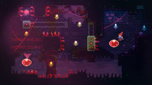 glow effects and lighting used in the pixel art for atmosphere