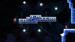 celeste level near the top