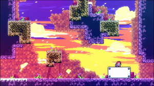 celeste gameplay screenshot of a level