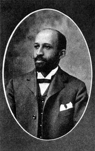 Black and white photo of W.E.B. Du Bois