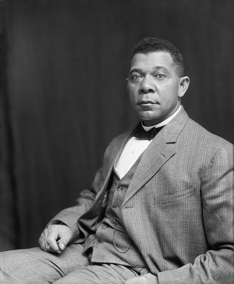 black and white photo of booker t washington