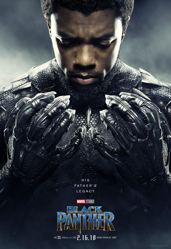 black panther poster with t'challa