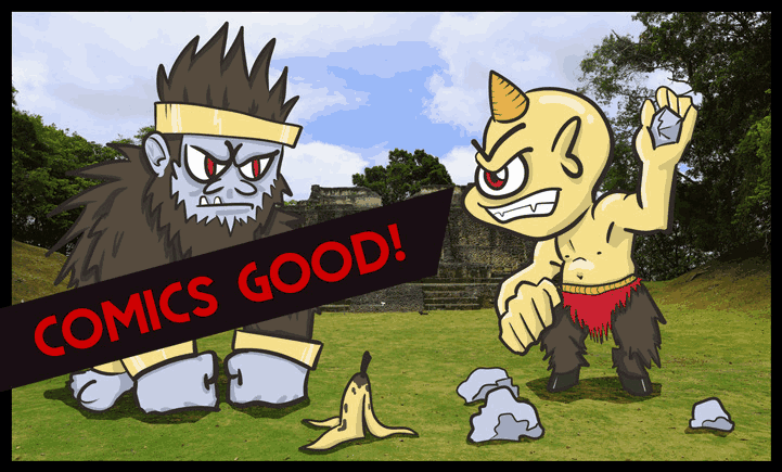 Comic Reviews Header Image - ogre and gorilla fighting