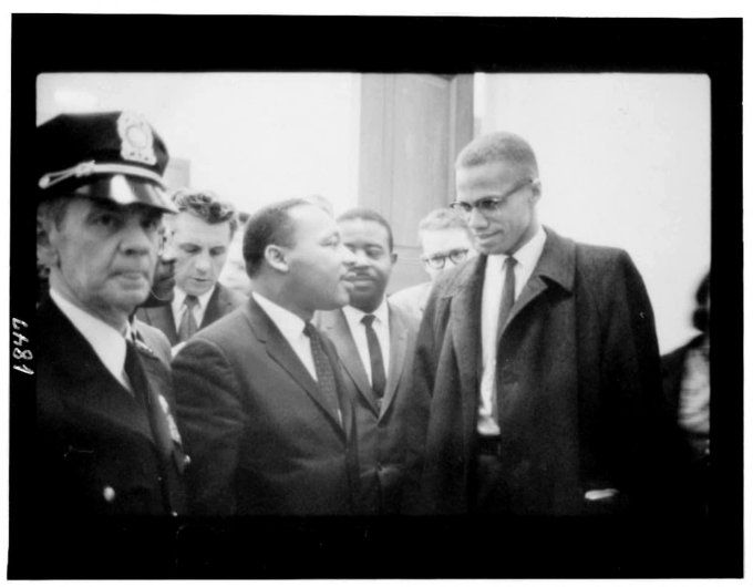 malcolm x and martin luther king meet amidst a crowd
