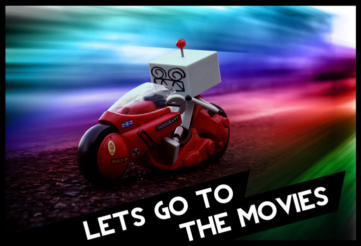 Movies Header Image - robot riding a motorcycle fast over blurred background