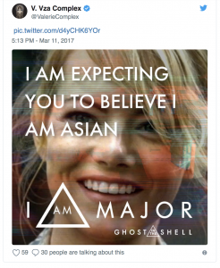 "Meme that says ""I am expecting you to believe I am Asian"" superimposed over Emma Stone"