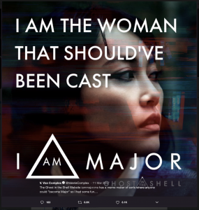 "Meme that says ""I am the woman that should've been cast"" superimposed over an Asian actress"
