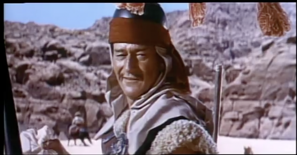 Picture of John Wayne as Genghis Khan in The Conqueror