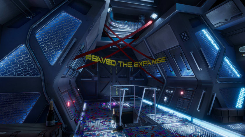 saved the expanse banner on the rocinante crew deck