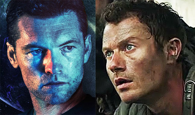 side by side comparison of sam worthington and james badge dale