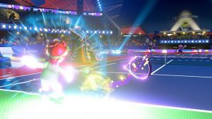 performing special shots in mario tennis aces