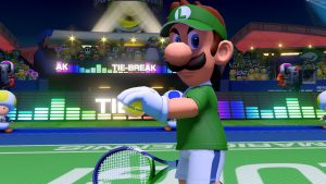 luigi gets read to serve